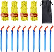 Azarxis Aluminum Tent Stakes Pegs Heavy Duty Lightweight for Camping Sand - 10 Pack