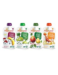 Happy Baby Organic Stage 2 Baby Food, Simple Combos, Variety Pack, 4 Ounce (Pack of 16) BOBEBE Online Baby Store From New York to Miami and Los Angeles