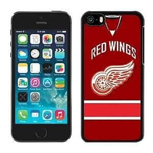 DIY Custom Phone Case For iPhone 5c NHL Detroit Red Wings iPhone 5c 5th Generation Hard Plastic Black Case 02_14419