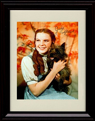 - Framed Dorothy and Toto Autograph Replica Print - Wizard of Oz - Judy Garland
