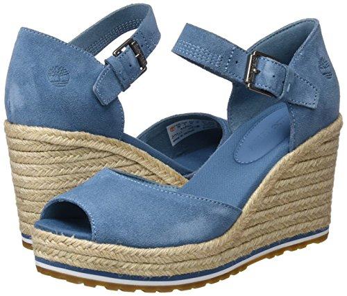 And Suede Nice Blue Bleu aegean Canvas Femme Mules 476 Coast Timberland Strap qzw1xEEO
