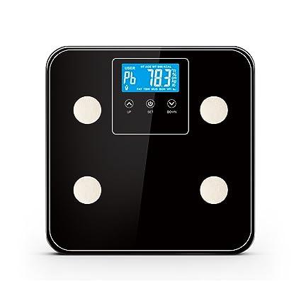 yuancin grasa corporal escala cuerpo escala báscula de baño con cristal templado, 180 kg/
