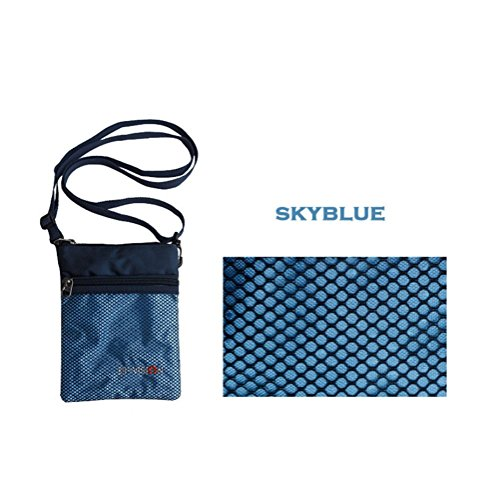 Travel Document Wallet With Hand Strap (Blue) - 6