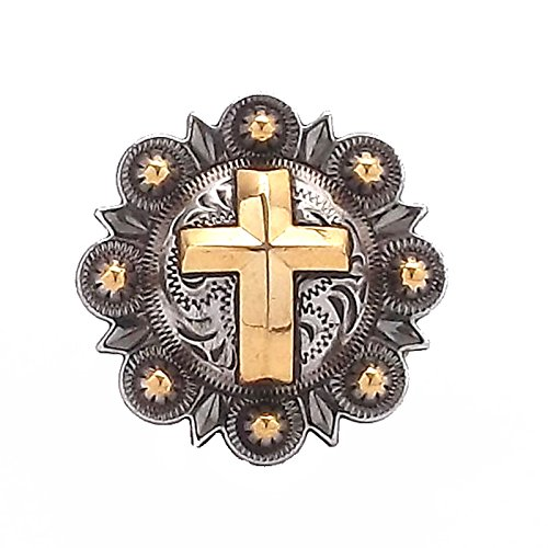 Cross Berry Concho Silver with Rose Gold All Metal 1