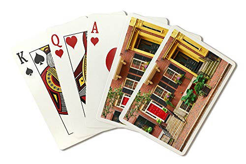 Boston, Massachusetts Street in Beacon Hill Neighborhood Photography A-91120 (Playing Card Deck - 52 Card Poker Size with Jokers)