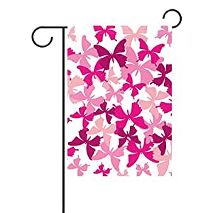 jstel casa mariposa poliéster tela jardín banderas Lovely y resistente al moho Custom de resistente al agua 12x 18inch
