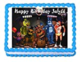 Five nights at Freddy's FNaF party edible cake image cake topper frosting sheet USA