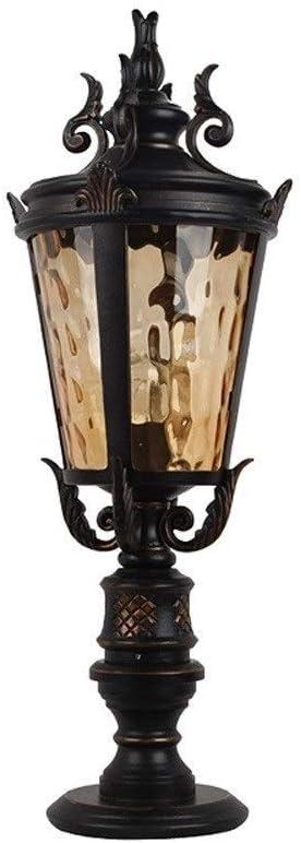 CHUXJ 伝統的な屋外のポストライトブラック近代柱ランプ防水列の照明器具