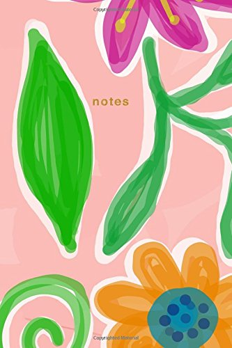 Notes: Pink Floral Notebook Wide-Ruled: 175-Page Pretty Floral Notebook (Gorgeous Notebooks) (Volume 1)