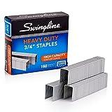 "Swingline Staples, Heavy Duty, 3/4"" Length,  160 Sheet Capacity, 100/Strip, 1000/Box, 1 Pack (35319)"