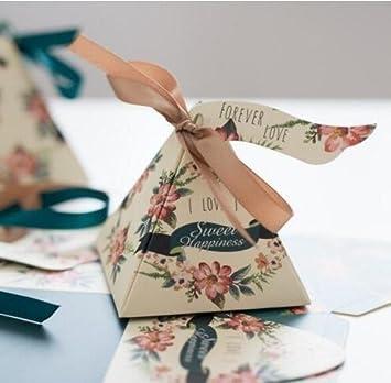Amazon.com: 50 cajas de regalo de flores para boda ...