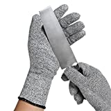 Preup Cut Resistant Gloves [Protective Polyester+Nylon Breathable Design] for Cutting / Slicing / Yard-work / Housework, Best Hand Protection, 1 Pair