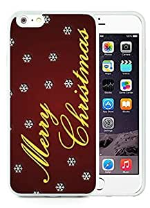 Special Custom Made iPhone 6 Plus Case,Merry Christmas White iPhone 6 Plus 5.5 TPU Case 94