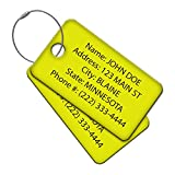 Multi Pack Customized Tavel ID Tag - Luggage Tag - Golf Bag ID - Personalized ID Travel Tag - Imprinted Luggage Tag - luggage, bikes, sport equipment and more. (8)