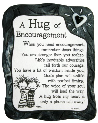 Encouragement Gift (Blue Mountain Arts A Hug of Encouragement by Marci Sculpted Resin Magnet (MR917))