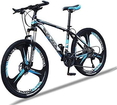 LFDHSF Bicicletas 26 en Ruedas de 3 radios Hardtail Mountain Bike Horquilla Suspensión Bicicleta de Carretera de Grava de Acero con Alto Contenido de Carbono con ...