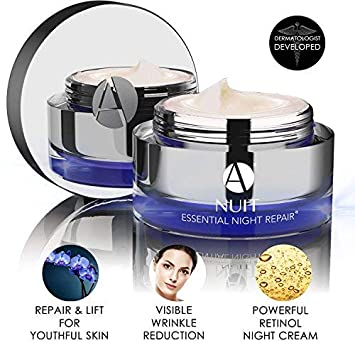 ANJALI MD Nuit – Brightening Anti-Aging Retinol Night Skincare Cream – Reduce Wrinkles, Sun Damage and Brown Spots