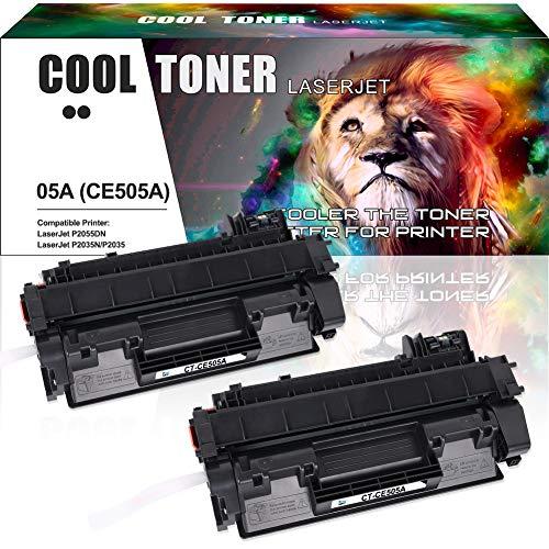 Cool Toner Compatible Toner Cartridge Replacement for HP 05A CE505A 05X CE505X HP P2035 P2055dn HP Laserjet P2035 P2055DN P2035N P2055D P0255X HP Laserjet P2055 P2035 2035 2055 Toner Ink Printer-2PK (Hp Laserjet P2035 Toner)