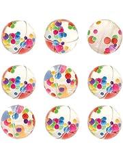 Baker Ross Flummis met regenboogpunten (8 stuks) rubberen ballen voor kinderen met regenboogpunten. Flummis voor kinderfeestjes
