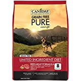 CANIDAE Grain Free Pure Range Dog Dry Red Meat Formula with Fresh Lamb, Buffalo Meal, Venison Meal, 12 lbs