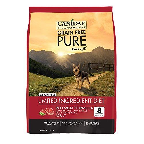 Canidae Grain Free Pure Range Dog Dry Red Meat Formula Fresh Lamb, Buffalo Meal, Venison Meal, 24 ()