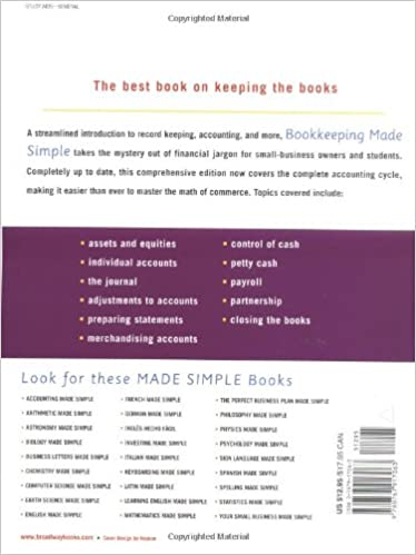 Amazon.com: Bookkeeping Made Simple: A Practical, Easy-to-Use ...