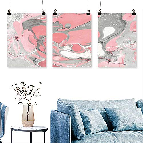 SCOCICI1588 3 Panel Canvas Wall Art Marble Beauty Made DIY Texture Paper Marble Style Slice tracery hi res Wallpaper Artwork for Wall Decor Triptych 30 INCH X 60 INCH X -