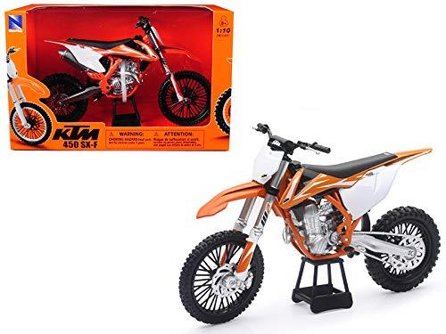 New Ray KTM 450 SX-F Dirt Bike Orange and White Motorcycle Model 1/10 57943