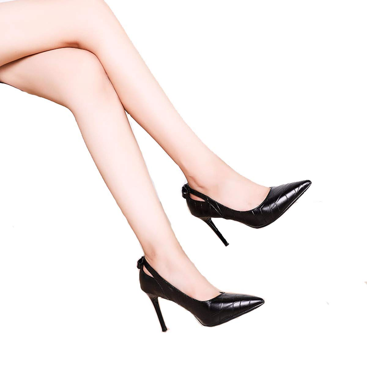 GTVERNH Damenschuhe Damenschuhe Damenschuhe Mode Spitz und Dünne Leder High - Heel 9Cm Einzelnen Schuh Eleganten Füßen Weiße Schuhe mit Flachen Weißen. 00ffb8