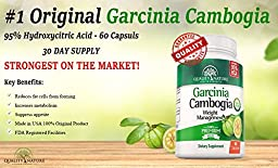 Quality Nature 95% HCA Pure Garcinia Cambogia Extract Weight Loss Supplement