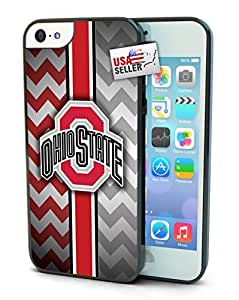 Ohio State Buckeyes Chevron Print Cell Phone Hard Protection Case for iPhone 5c