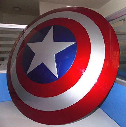 Captain America The Winter Soldier Costume Replica (Gmasking Captain America Adult Shield 1:1 Prop New Color Replica+Adjustable Strap)
