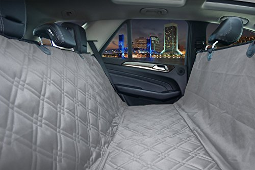 Bulldogology Premium Dog Car Seat Covers – Heavy Duty Durable Quality for Cars, Trucks, Vans, and SUVs (Large, Grey)
