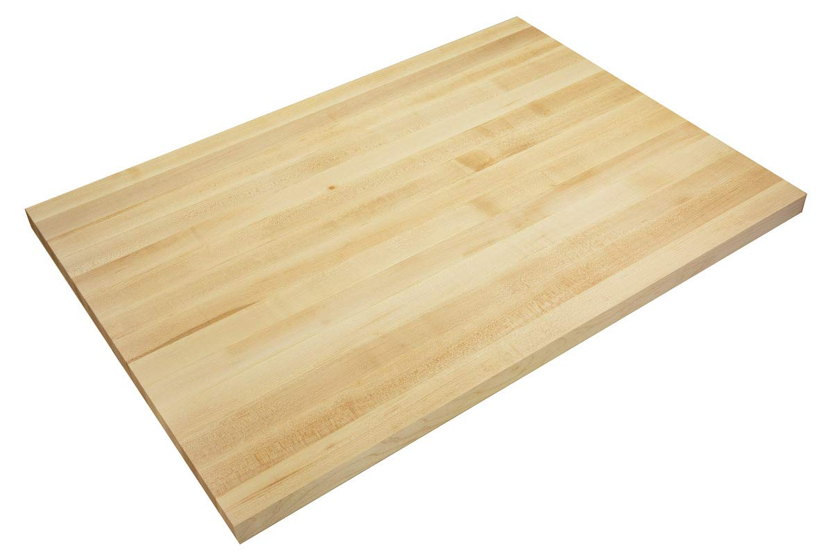 Big Bison Maple Butcher Block and Wood Countertop, 36 x 25 x 1.5 Inches, Made in the USA