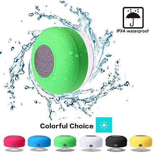 Mini Shower Speaker-Wireless, Waterproof Bluetooth Speaker, Hands-Free Portable Speakerphone with Built-in Mic, Micro USB Outdoor, Sports, Pool, Beach, Hiking, Camping
