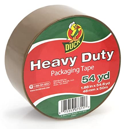 Duck Brand HD Clear High Performance Packaging Tape, 1.88x30 yd, Crystal Clear, Single Roll (281650) 1.88x30 yd