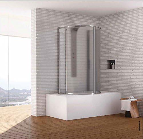Mampara de baño Circular de puertas pivotantes Dora: Amazon.es ...