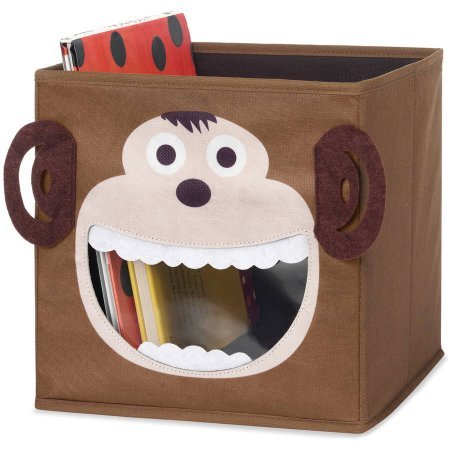 (Whitmor 6256-4925-Monky Brown Monkey Collapsible Storage Cube)