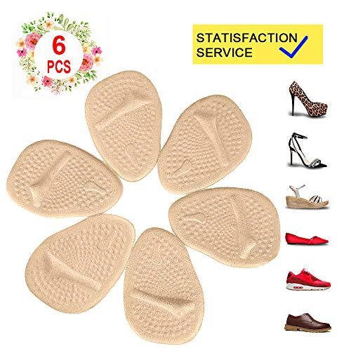 Metatarsal Pads for Womens Heel Cushion Inserts - All Day Pain Relief and Ball of Foot Cushions, 3 Pairs Shoe Inserts Womens Also Suitable for Mens......