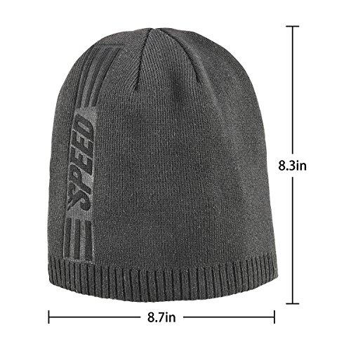 cd159ecace3 Bodvera Mens Winter Beanie Knit Hats Slouchy Wool Warm Plain Skull Cuff  Toboggan Knitting Watch Cap