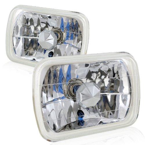 7x6 Chrome Housing Diamond Cut Headlights