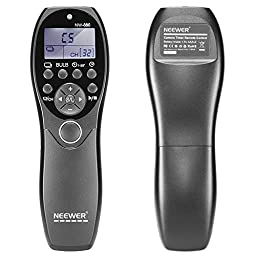 Neewer LCD Display Shutter Release Wired Timer Remote Control NW-880/E3 for Canon PowerShot G10 G11 G12 G1X SX50, EOS 700D 1200D 1100D 1000D 650D 600D 550D 500D 60D 70D Digital Cameras