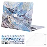 MOSISO MacBook Air 13 inch Case (A1369 & A1466, Older Version 2010-2017 Release), Plastic Pattern Hard Case&Keyboard Cover&Screen Protector Only Compatible with MacBook Air 13, Hot Blue Cloud Marble