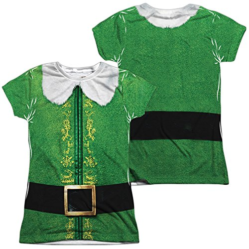 Elf Buddy Costume Women's Sublimated T (Buddy The Elf Womens Costume)