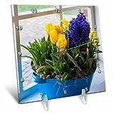 3dRose Danita Delimont - Flowers - Window with spring flower arrangement - 6x6 Desk Clock (dc_257775_1)