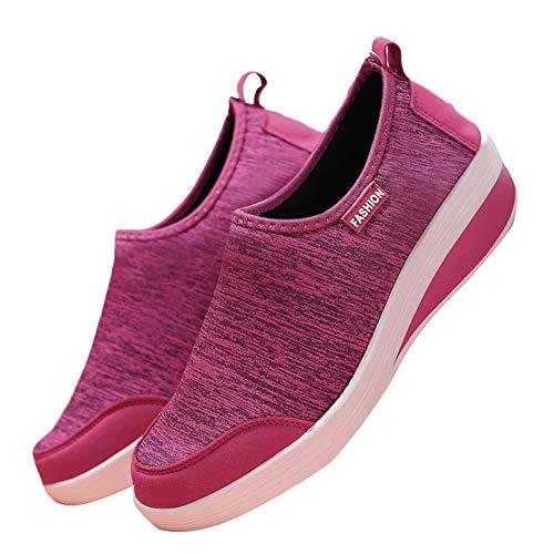 Il Maglia Eleganti Libero Rosa Tempo Basse Casual Caldo Scarpe Theshy Sportive Per Ginnastica Piatto Fondo Moda Donna Da Traspirante gISOnWd