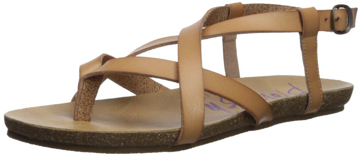 Blowfish Women's Granola Flat Sandal, Nude, 8.5 M US