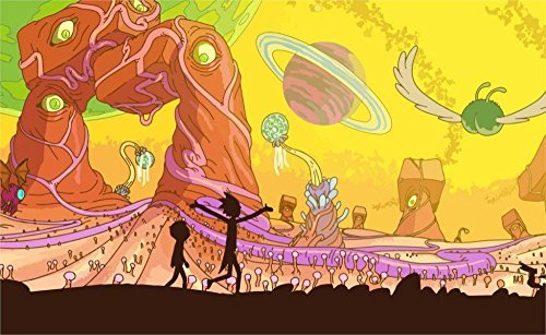 Tomorrow sunny 24X36 INCH / ART SILK POSTER / Rick and Morty Adult Swim Adult Swim cartoons cartoons space animation planet Home Decoration by Tomorrow sunny