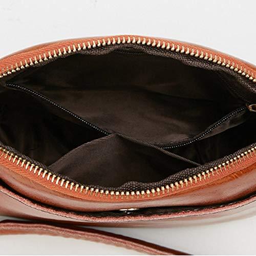 Mujer Sintética Marrón de PN Bags estilo Piel preppy Mounter JJE3 xzU0w8qH