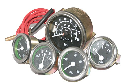 Enfield County Speedometer Temperature Oil Fuel Gauge Kit Willys Mb Ford GPW CJ Jeeps